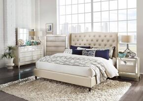 Global Furniture USA MIRROR8856CHAMPKBUPHOLSTEREDSET