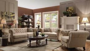 Trivellato 505821SLC 3 PC Living Room Set with Sofa + Loveseat + Chair in Oatmeal Color