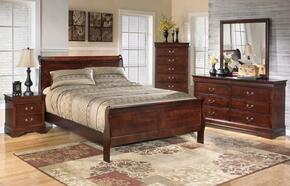 Alisdair Queen Bedroom Set with Sleigh Bed, Dresser, Mirror and Nightstand in Dark Brown