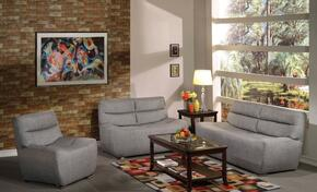 Kainda 51720SLC 3 PC Living Room Set with Sofa + Loveseat + Chair in Grey Color