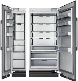 "54"" Panel Ready Side-by-Side Column Refrigerator Set with DRZ18980LAP 18"" Left Hinge Freezer, and DRR36980RAP 36"" Right Hinge Refrigerator"