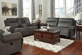 Zachery Collection MI-2240PSLR-GRY 3-Piece Living Room Set with 3-Seat Power Reclining Sofa, Double Reclining Power Loveseat and Zero Wall Power Recliner in Grey