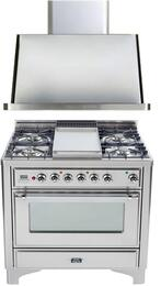 2-Piece Stainless Steel Kitchen Package with UM90FDMPRB 36