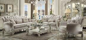 521053PC Versailles 3 PC Living Room Set with Sofa, Loveseat and Chair in Bone White