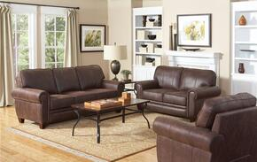 Bentley 504201SET 3 PC Living Room Set with Sofa + Loveseat + Armchair in Brown Color