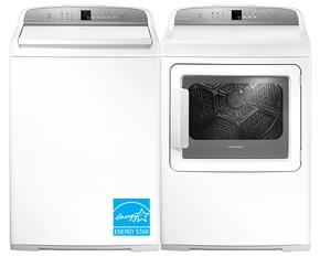 "White Top Load Laundry Pair with WL4027G1 27"" Washer and DG7027G1 27"" Gas Dryer"