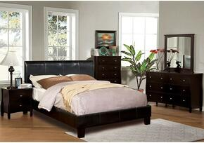 Villa Collection CM7007QBDMCN 5-Piece Bedroom Set with Queen Bed, Dresser, Mirror, Chest, and Nightstand in Espresso Color