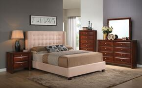 Mallalai 20760Q5PC Bedroom Set with Queen Size Bed + Dresser + Mirror + Chest + Nightstand in Espresso Finish