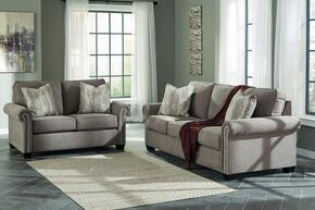 Gilman Collection 92602SL 2-Piece Living Room Set with Sofa and Loveseat in Charcoal