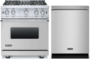 2-Piece Stainless Steel Kitchen Package with VGCC5304BSSLP 30