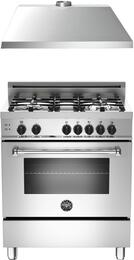 "2-Piece Stainless Steel Kitchen Package with MAS304GASXELP 30"" Freestanding Liquid Propane Range and KU30PRO1XV 30"" 400 CFM Range Hood"