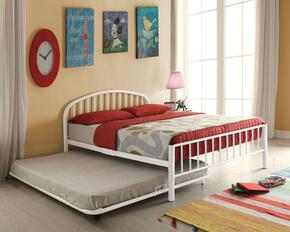 Cailyn Collection 30460TWHT 2 PC Bedroom Set with Twin Size Bunk Bed + Trundle in White Finish