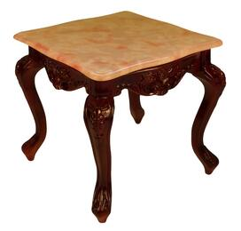 CF98RN3SET Transitional Style Cocktail Table with Rose Top Color and Natural Non-Glossy Wood Finish Base + 2 End Tables