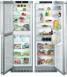 SBS 241A Side by Side Refrigerator with RB 1410 BioFresh Refrigerator with BF 1061 BioFresh Refrigerator/Freezer, in Stainless Steel