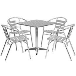 Flash Furniture TLHALUM28SQ017BCHR4GG