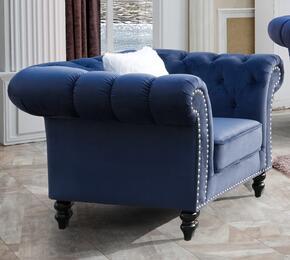 Cosmos Furniture GABYCHAIRBLUEVELVET
