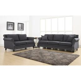 Camden TOV-63802-3-G2 Living Room Set With Linen Sofa and Linen Loveseat in Grey