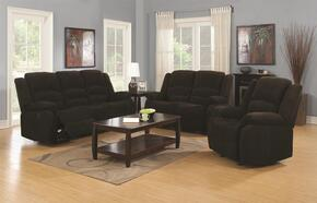 Gordon 601461SETB 5 PC Living Room Set with Sofa + Loveseat + Recliner + End Table + Coffee Table in Dark Brown Color