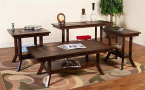 3175DC-CSKIT2 Santa Fe Coffee Table with Chair Side Table, End Table and Sofa/Console Table in Dark Chocolate Finish
