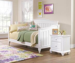 SummerTime 846674041BN 2 PC bedroom Set with Day Bed + Nightstand in White Color