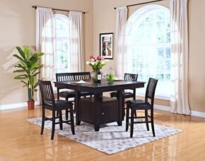 4510210CCB Kaylee 6 Piece Counter Height Dining Room Set with Table, Four Chairs and Bench, in Espresso