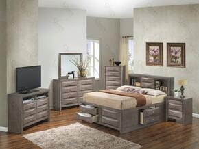 G1505GTSB3NTV2 3 Piece Set including  Twin Size Bed, Nightstand and Media Chest in Gray