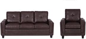 DS-A192-68SC Living Room Set with  Sofa and Chair in Brown