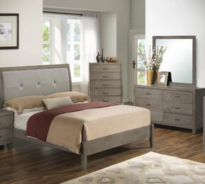 G1205AKBDM 3 Piece Set including King Bed, Dresser and Mirror in Grey