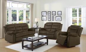 Rodman 601881SLC 3 PC Living Room Set with Sofa + Loveseat + Chair in Chocolate Color
