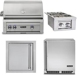 4-Piece Stainless Steel Outdoor Kitchen Package with VQGI5300LSS 30