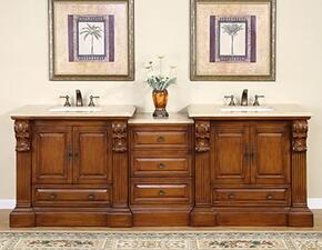 Bravia HYP0907TUWC95 3 PC Vanity Set with 2 Single Sink Cabinets + 1 Drawer Bank in Cherry Finish