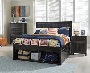 Jaysom Twin Bedroom Set with Storage Bed, and Nightstand in Black
