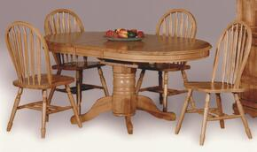 Sunset Selections Collection DLU-TBX4266-820-LO5PC 5 Piece Pedestal Dining Set with Arrowback Chairs