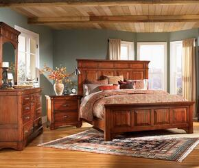 KALRM5130K4P Kalispell 4-Piece Bedroom Set with King Sized Mantel Bed, Dresser, Mirror and Single Nightstand