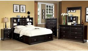 Yorkville Collection CM7059CKSBDMCN 5-Piece Bedroom Set with California King Storage Bed, Dresser, Mirror, Chest and Nightstand in Espresso Finish