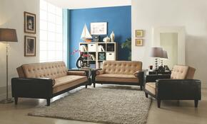 G800 Collection G848SET 3 PC Living Room Set with Sofa Bed + Loveseat Bed + Chair Bed in Mocha and Dark Brown