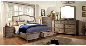 Belgrade I Collection CM7614QSBDMCN 5-Piece Bedroom Sets with Queen Storage Bed, Dresser, Mirror, Nightstand and Chest in Rustic Natural Tone