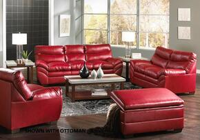 Soho 9515-030201 3 Piece Set including  Sofa, Loveseat and Chair with  Bonded Leather  in Cardinal