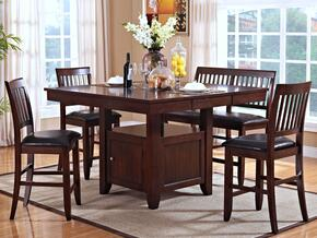 4510110CC Kaylee 5 Piece Counter Height Dining Room Set with Table and Four Chairs, in Brown