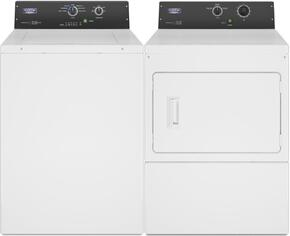 Commercial Laundry Pair with MAT20MNAWW 2.9 cu. ft. Top Load Washer and MDG20MNAWW 7.4 cu. ft. Gas Dryer