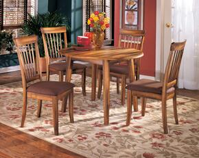 Claudius Collection 5-Piece Dining Room Set with Round Dining Table and 4 Side Chairs in Rustic Brown