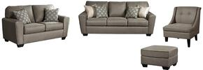 Baylee Collection MI-8018QSSLACO-CASH 4-Piece Living Room Set with Queen Sofa Sleeper, Loveseat, Accent Chair and Ottoman in Cashmere