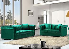 Kayla Collection 6152PCSTLKIT3 2-Piece Living Room Sets with Stationary Sofa, and Loveseat in Green