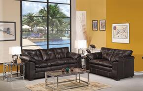 Hayley 50350SL 2 PC Living Room Set with Sofa + Loveseat in Premier Onyx Color