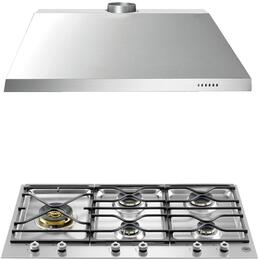 "2-Piece Stainless Steel Kitchen Package with PM365S0X 36"" Gas Cooktop and KU36PRO1X14 36"" Canopy Hood"