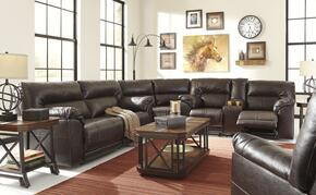 Alexander Collection MI-1670SSR-CHOC Barrettsville 2-Piece Living Room Set with Non-Power Sectional Sofa and Recliner in Chocolate