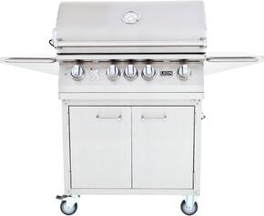 75625KIT L75000 Premium Gourmet Grill with Rotisserie, Smoker Box, Griddle and Temperature Gauge with Matching Cart, Stainless Steel: Liquid Propane