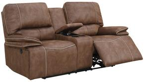 Global Furniture USA U8078SULTRYDRKBROWNPECANPCRLS