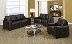 502731SET2 Jasmine Brown Leather 2 Piece Living Room Set (Sofa and Loveseat)