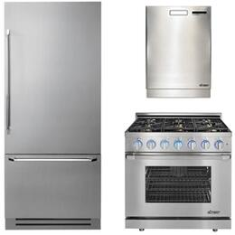 3-Piece Stainless Steel Kitchen Package with DYF36BFTSL 36